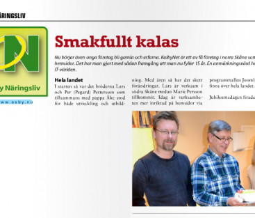 KalbyNet i lokaltidning