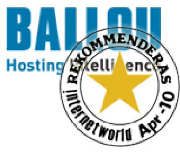 Internetworld rekommenderar vår hostingpartner