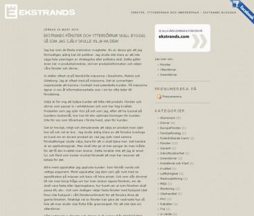 Ekstrands blogg