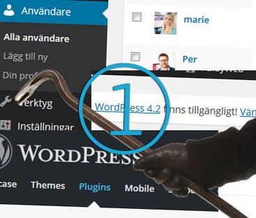 Tio steg för en säkrare WordPress-sida, del 1